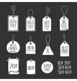 Hand drawn sales tags doodle set vintage vector image