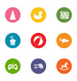 improving the game icons set flat style vector image