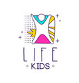 kids life logo design element for kids club vector image vector image