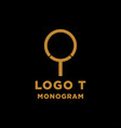 luxury initial t logo design icon element isolated vector image vector image