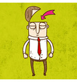 Man with an Open Head Cartoon vector image vector image