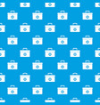medicine chest pattern seamless blue vector image vector image