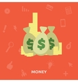 Money in the bag isolated on a white background vector image vector image