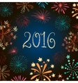 new year eve fireworks 2016 vector image vector image