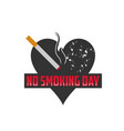 no smoking day icons against cigarettes signs vector image vector image
