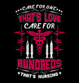nurse t shirts design typographic quotes design vector image vector image