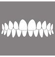 occlusion front teeth vector image vector image