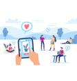online buying internet shop smartphone security vector image