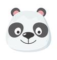 panda face in flat design