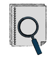 paper document with magnifying glass vector image vector image