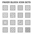 Paver block vector image vector image