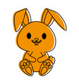 rabbit or bunny cute animal cartoon icon image vector image