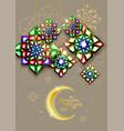 Ramadan kareem abstract girih flower encrusted