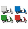 realistic cargo tricycle vector image