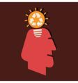 renewable idea in human head vector image