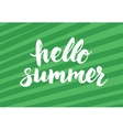 Say hello to summer - card with hand drawn brush vector image
