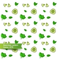 Seamless pattern with slices of vegetables vector image vector image