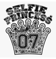 Selfie princess t-shirt vector image