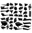 Set of abstract speech balloons vector image vector image