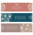 Set of three abstract floral banners vector image vector image