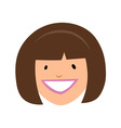 Smiling girl face vector image vector image
