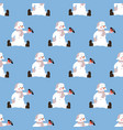 snowman seamless pattern vector image vector image