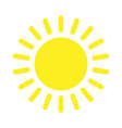 sun with rays line icon design for your design vector image