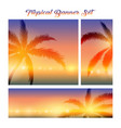 tropical banner set vector image vector image