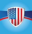 usa flag shield background vector image vector image