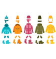 warm cloth and accessories winter clothing vector image