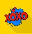xoxo icon pop art style vector image