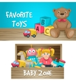 Kids Toys Horizontal Compositions vector image