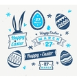 Set of Easter logos and labels cute vector image