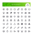 Sport Line Icons Set vector image