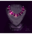 Mannequin For Jewelry Shop vector image