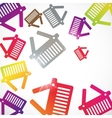 abstract background basket vector image vector image