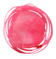 abstract red color round brush watercolor vector image