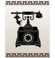 Ancient telephone stencil vector image vector image
