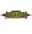 Arkansas The Natural State vector image vector image