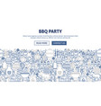 bbq party banner design vector image vector image