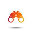 binoculars icon find software sign symbol vector image vector image