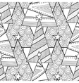 Black and white pattern with Christmas trees for vector image vector image