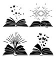 black books silhouettes vector image