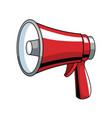 bullhorn advertising symbol pop art