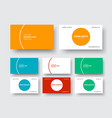 business card template in a modern minimalist vector image