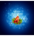 Christmas background with candles vector image