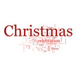 christmas text cloud vector image vector image