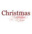 christmas text cloud vector image