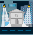 cityscape building with street metropolis in the vector image vector image