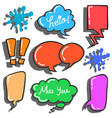 collection stock of speech bubble various style vector image vector image